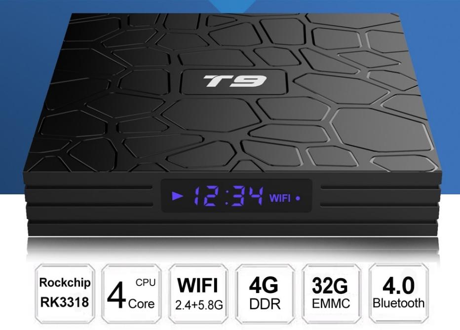Smart TV приставка на аndroid 9,0 PULIERDE T9