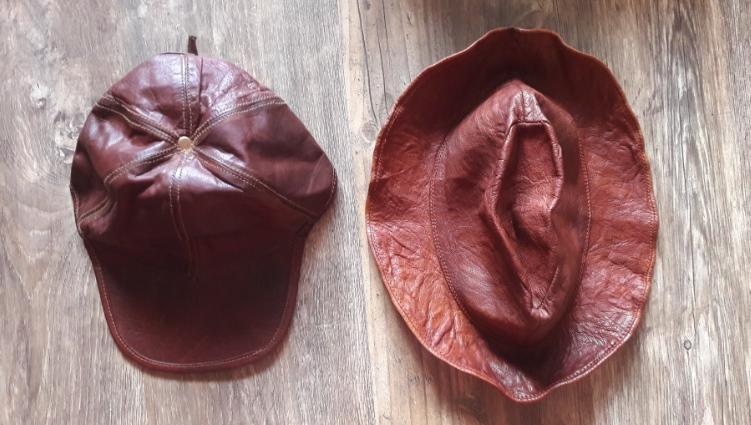 кожаная шляпа