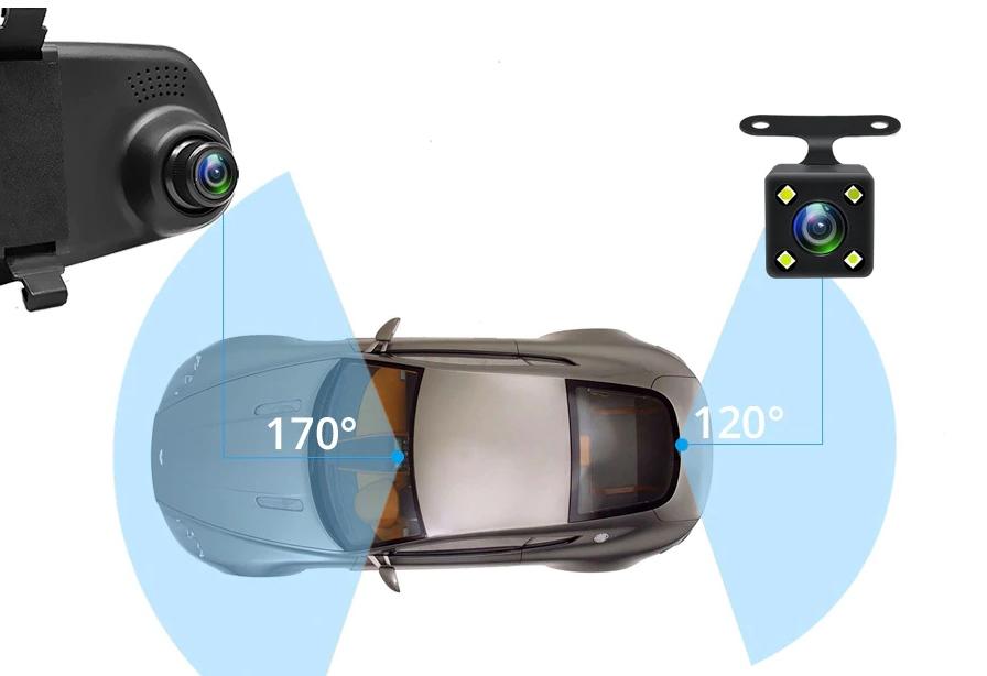 Зеркало видеорегистратор с камерой заднего вида с Алиэкспресс