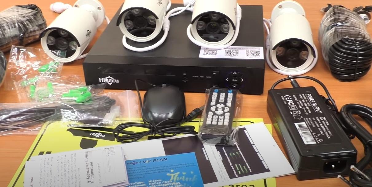 комплект видеонаблюдения Hiseeu POE 4MP